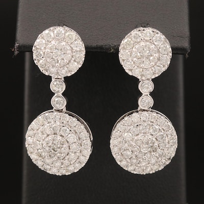 14K 4.01 CTW Diamond Earrings