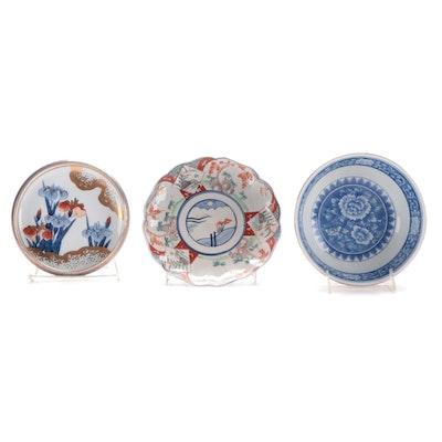 Japanese Imari and Tiffany & Co. Imari Style Plates and Bowl, 20th Century