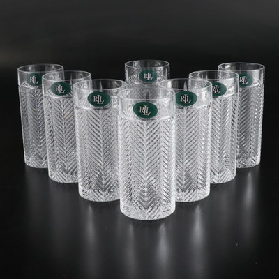 "Ralph Lauren ""Herringbone"" Highball Glasses"