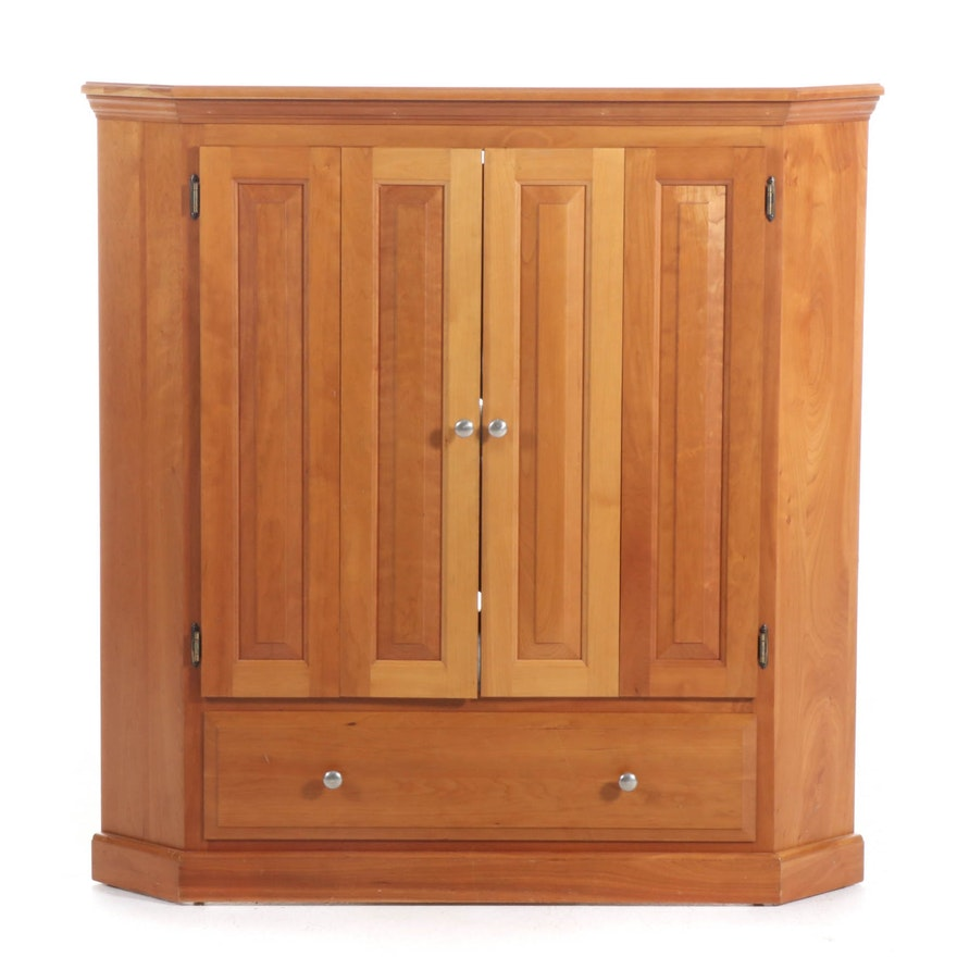 American Primitive Style Corner Media Cabinet, Late 20th/Early 21st Century