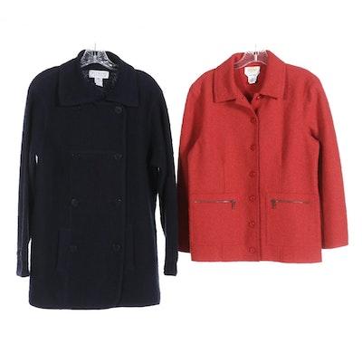 Talbots Alpaca and Wool Button Jackets