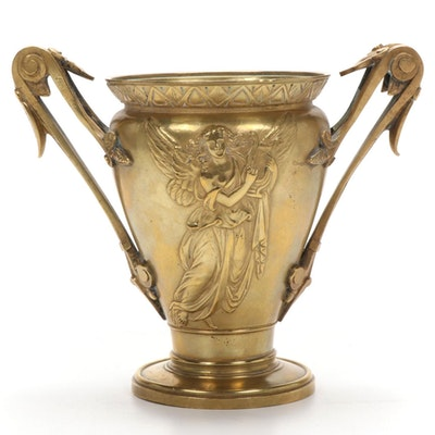 Grand Tour Brass Double-Handle Urn
