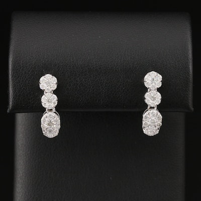 14K 1.01 CTW Diamond Dangle Earrings