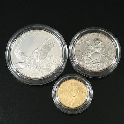 2008 Bald Eagle Commemorative Silver and Gold Coin Set