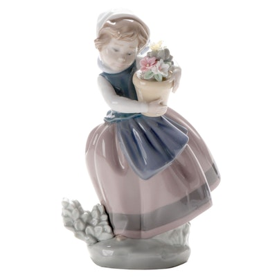"Lladró ""Spring is Here"" Porcelain Figurine Designed by José Puche"