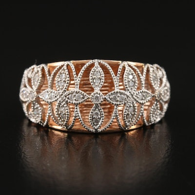 14K Diamond Openwork Ring