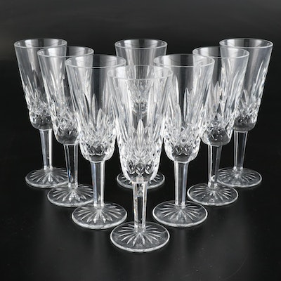 "Waterford ""Lismore"" Cut Crystal Champagne Flutes"