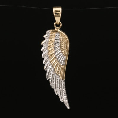 14K Wing Pendant