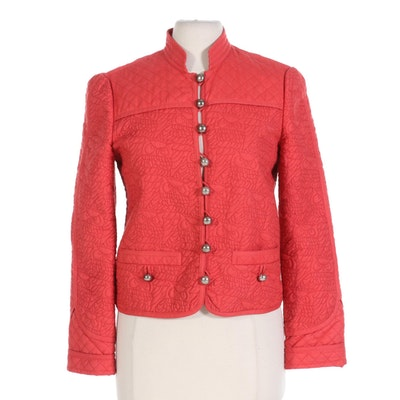 Marc Jacobs Red Quilted Jacket
