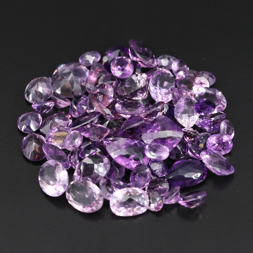 Loose 306.95 CTW Faceted Amethysts