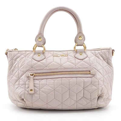 Miu Miu Two-Way Handbag in Quilted Leather