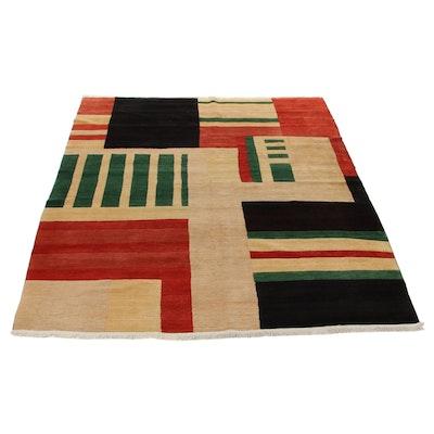 8'10 x 11'11 Hand-Knotted Tufenkian Tibetan Geometric Room Size Rug, 2000s