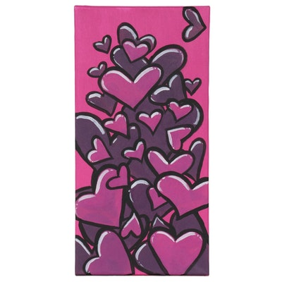"Bee1ne Acrylic Painting ""Spread More Love (Magenta),"" 2020"
