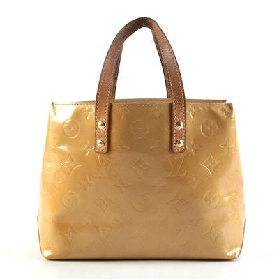 Louis Vuitton Reade PM in Monogram Vernis and Vachetta Leather