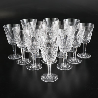 "Waterford Crystal ""Lismore"" Claret and White Wine Glasses"
