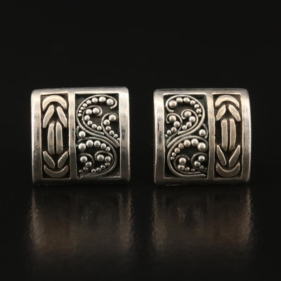 Lois Hill Sterling Earrings with Granulation Detail