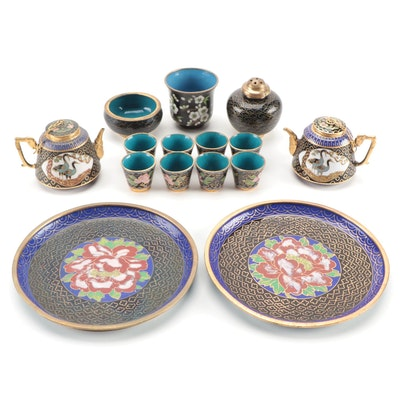 Decorative Chinese Enamel Miniature Tea Sets with Others