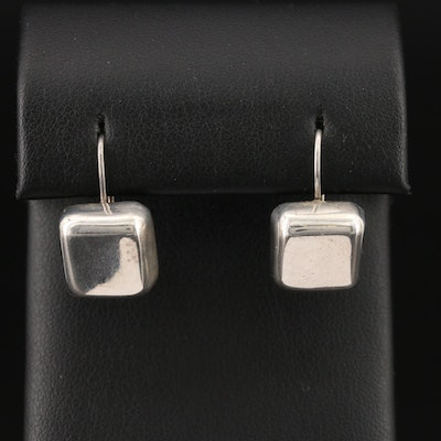 Mexican Sterling Silver Drop Square Earrings