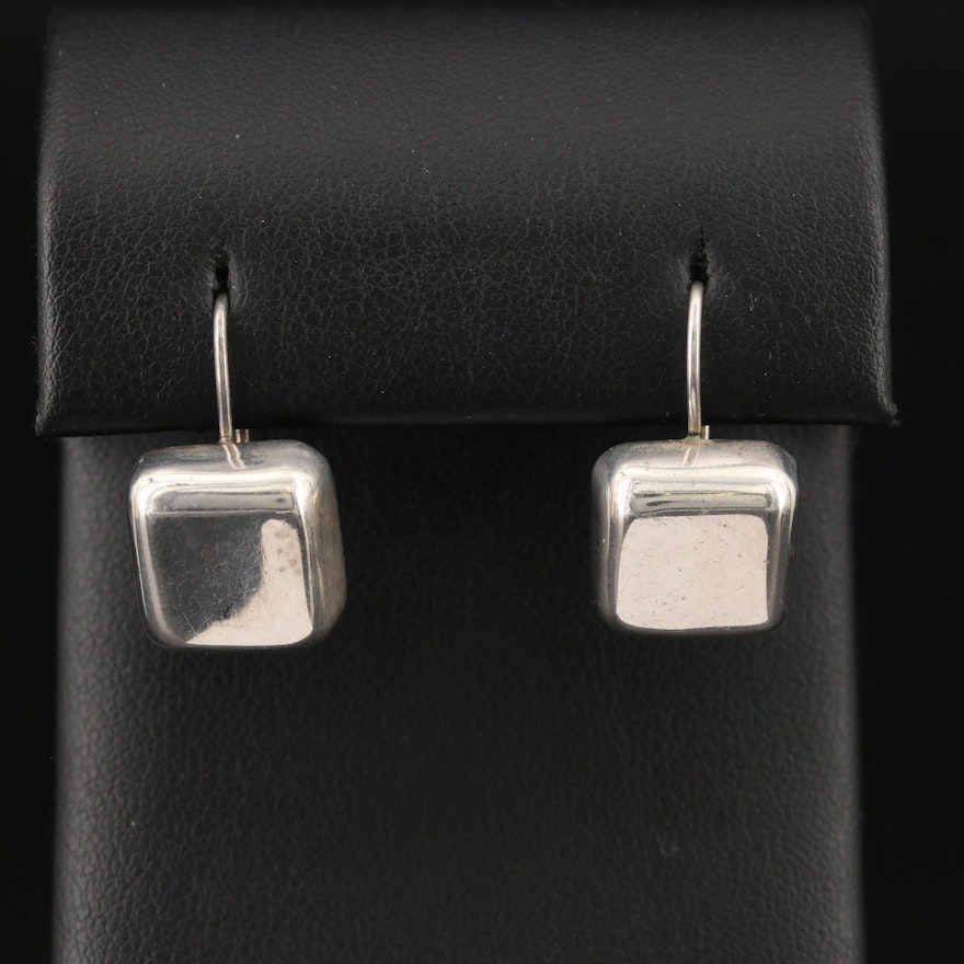 Mexican Sterling Silver Square Earrings