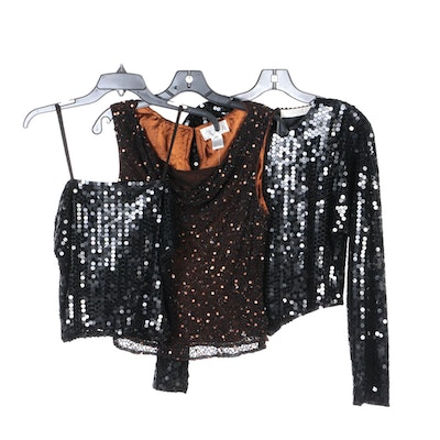 Scala, I. Magnin and Other Sequin and Embellished Tops