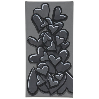 "Bee1ne Acrylic Painting ""Spread More Love (Gray),"" 2020"