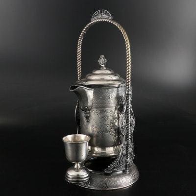 Simpson, Hall, Miller & Co. Aesthetic Silver Plate Tilting Teapot