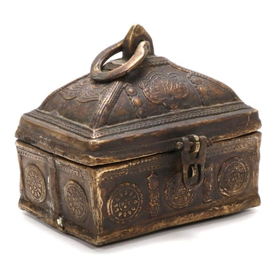 Indian Bronze Dhokra Box
