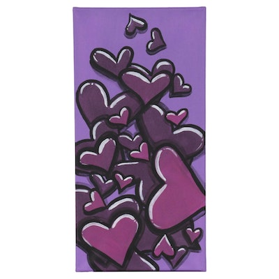 "Bee1ne Acrylic Painting ""Spread More Love (Violet),"" 2020"
