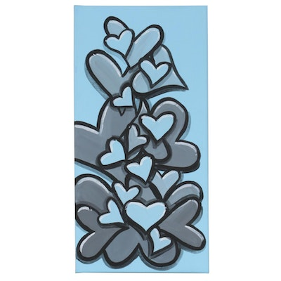 "Bee1ne Acrylic Painting ""Spread More Love (Sky Blue),"" 2020"