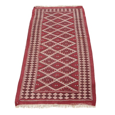 2'6 x 5' Handwoven Turkish Caucasian Accent Rug, 1980s