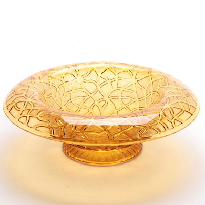 "Imperial Marigold Carnival Glass ""Soda Gold"" Rolled Edge Bowl, Early-Mid 20th C."