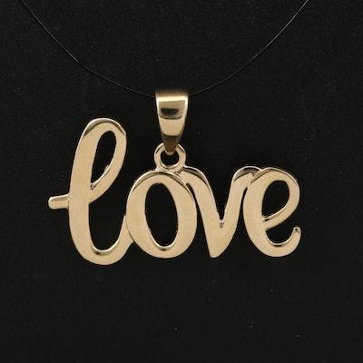 "14K ""Love"" Pendant"