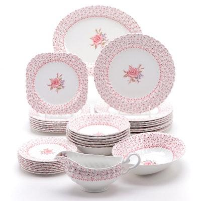 "Johnson Brothers ""Rose Bouquet"" Ceramic Dinnerware, 1974–1988"