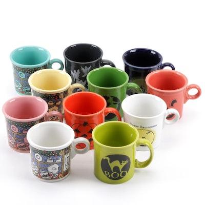 11 Fiestaware Holiday Coffee Cups