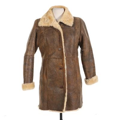 Isabella Bird Shearling Leather Coat