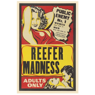 """Offset Lithograph after """"Reefer Madness"""" Movie Poster, Late 20th Century"""