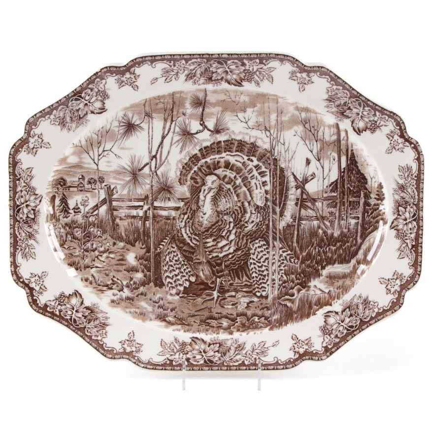 "Josiah Wedgwood & Sons for Williams Sonoma ""His Majesty"" Platter, 1999"