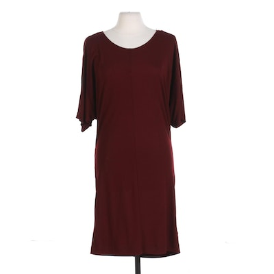 AllSaints Darcy Dress with Dolman Sleeves in Rust Marl
