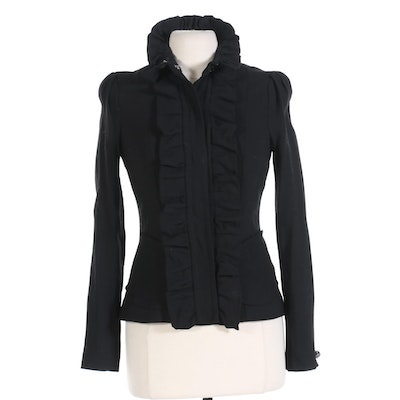 Tracy Reese New York Ruffle Front Jacket