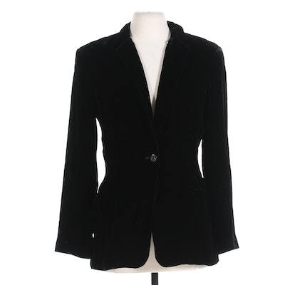 Ralph Lauren Mitchells Westport Velvet Blazer with Rhinestone Buttons