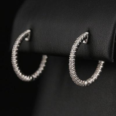 14K Diamond Inside-Out Hoop Earrings