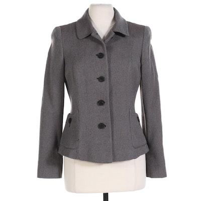 Armani Collezioni Italian Wool Button Front Jacket