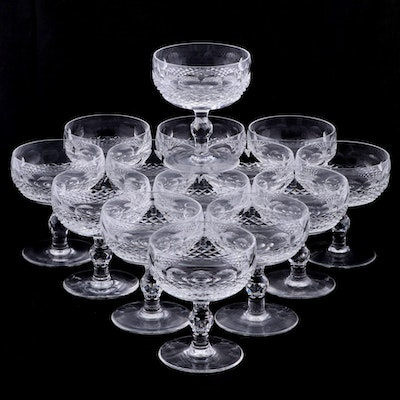 """Waterford Crystal """"Colleen Short Stem"""" Champagne Coupes"""