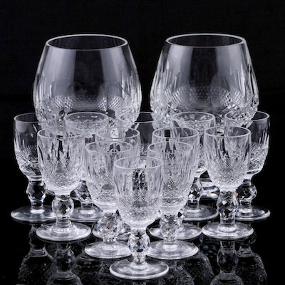 """Waterford Crystal """"Colleen Short Stem"""" Brandy Glass and Cordials"""