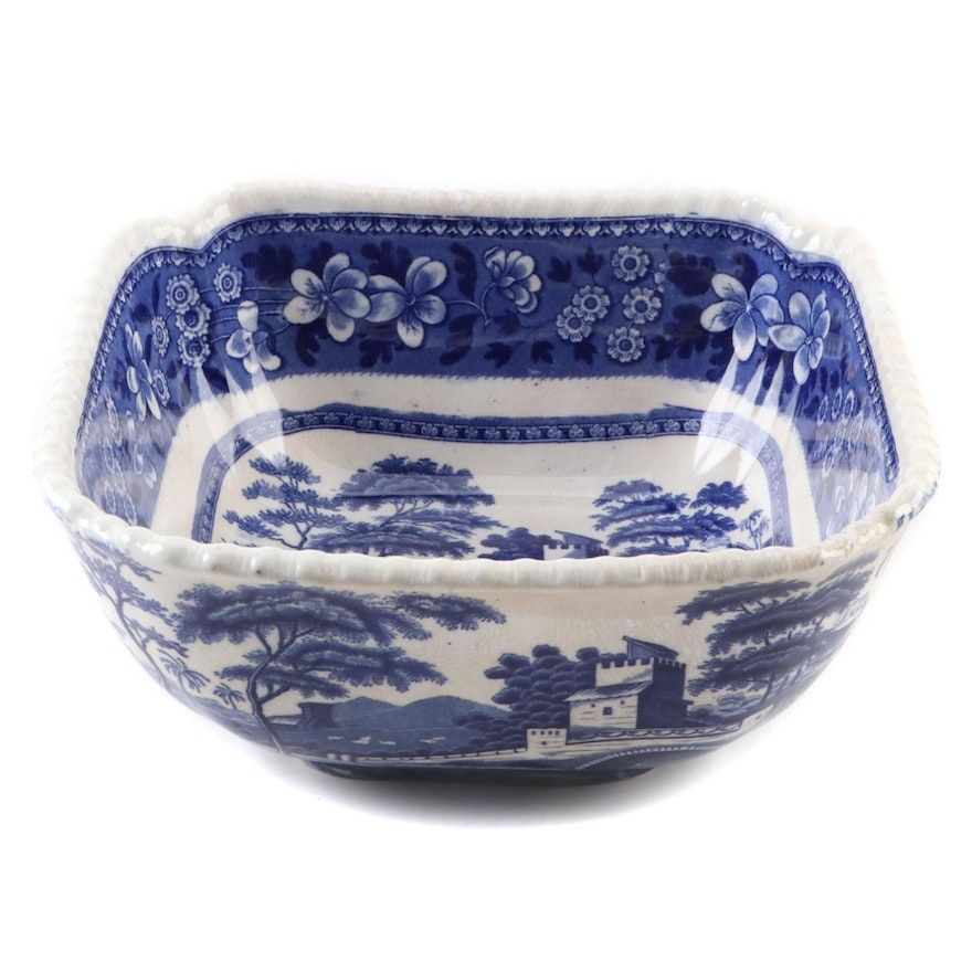 Copeland 'Spode's Tower' Blue and White Serving Dish, Early to Mid 20th Century