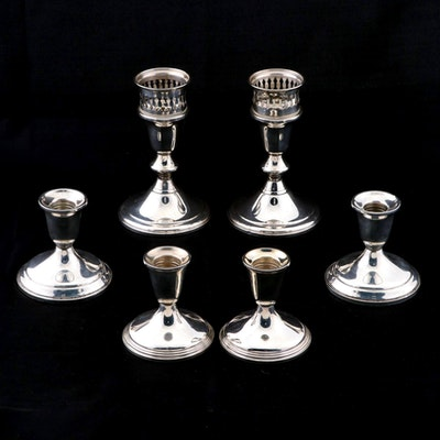 Towle and Empire Weighted Sterling Silver Candle Holders