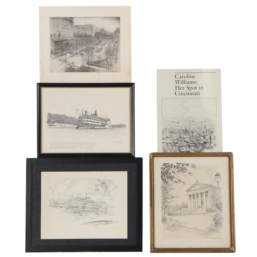 Cincinnati Cityscape Prints after Caroline Williams