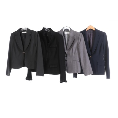Four Tahari and Elie Tahari Suiting Jackets