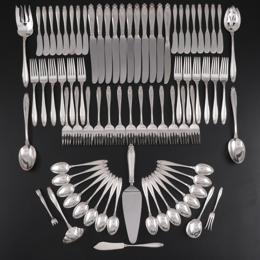 "International Silver ""Prelude"" Sterling Silver Flatware and Serving Utensils"