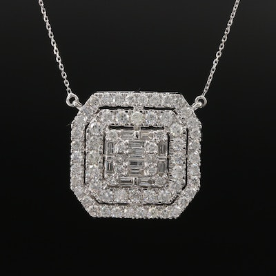 14K 3.01 CTW Diamond Necklace